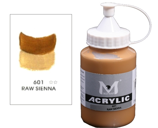 Number 601 Raw Sienna Professional Acrylic Paint 1