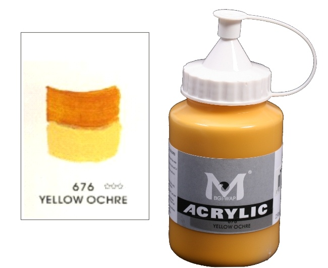 Number 676 Yellow Ochre Professional Acrylic Paint 1