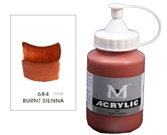 Number 684 Burnt Sienna Professional Acrylic Paint 1