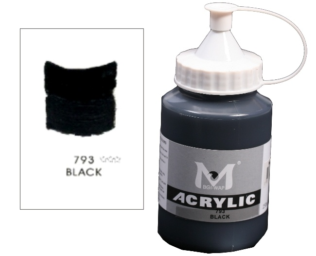 Number 793 Black Professional Acrylic Paint 1