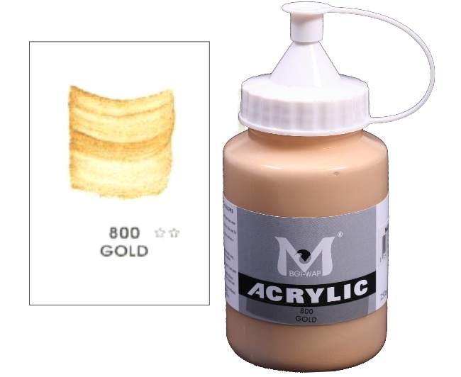 Number 800 Metallic Gold Professional Acrylic Paint 1
