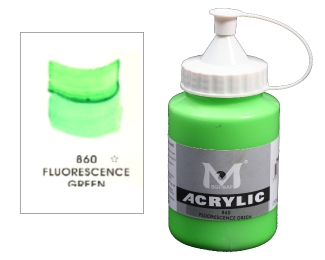 Number 860 Fluorescent Green Professional Acrylic Paint 1
