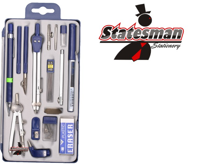 Technical Drawing Mathematical 15 Piece Precision Tool Set 1