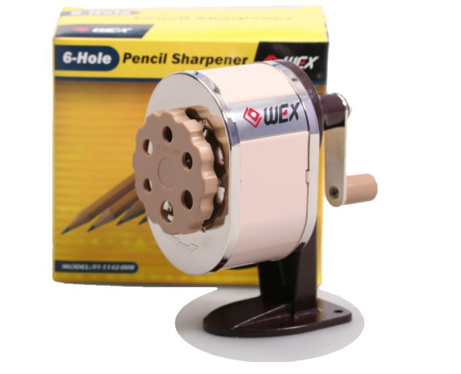 6 Hole Hand Crank Helical Sharpener 1