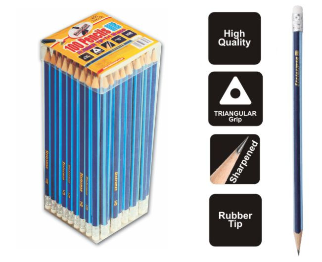 HB Triangular Grip Pencils With Rubber High Quality 1