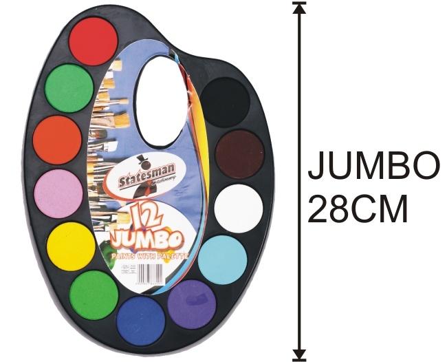 12 Colour Jumbo Water Colour Paint Set 1