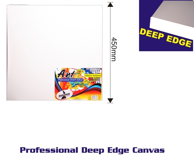 450mm X 450 Mm Square Deep Edge Stretched Canvas 1