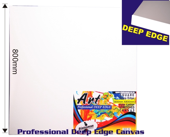 800mm X 800 Mm Square Deep Edge Stretched Canvas 1