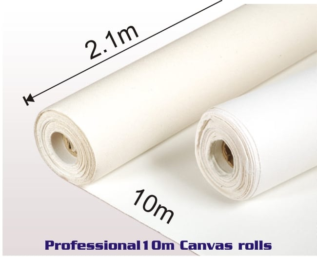 Professional 2.1m X 10m  Canvas Roll 1