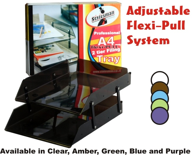 High Quality Flexi-pull Adjustable Filing System 2 Tray 1
