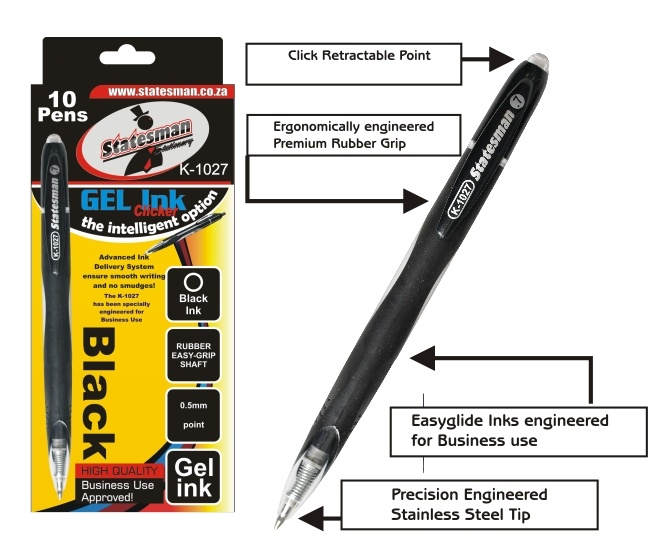 Gel Click Pen With a Rubber Grip Each Special Offer 1