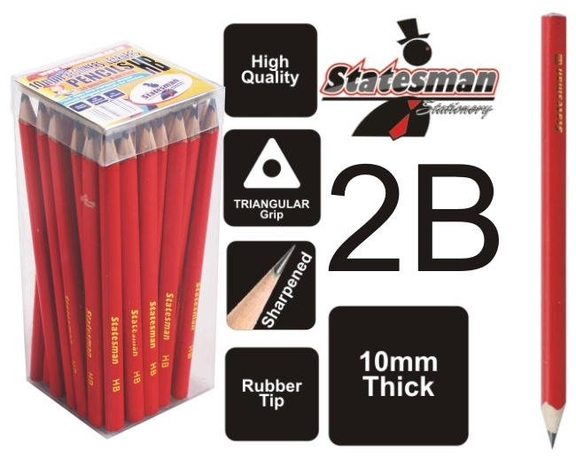 Thick Beginners HB Beginners 10mm  Pencil 50 Pack 1