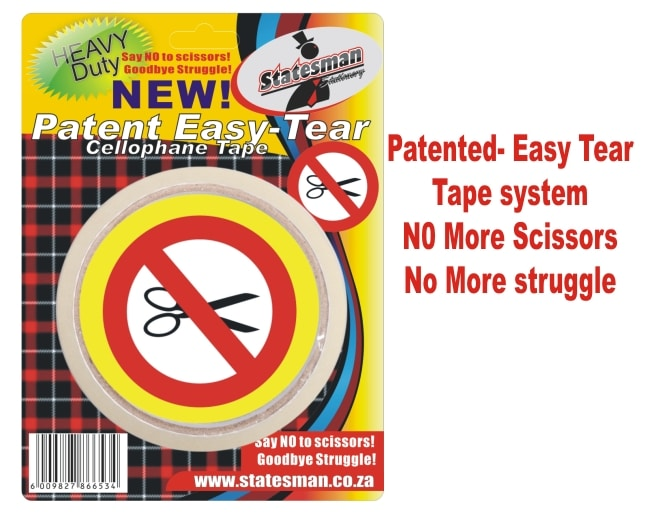Easy Tear Clear Tape 1 Piece Carded Invisible Perforation 1