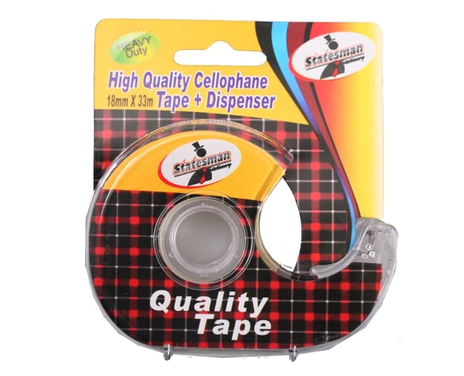 Clear Tape 33m With Dispenser 1