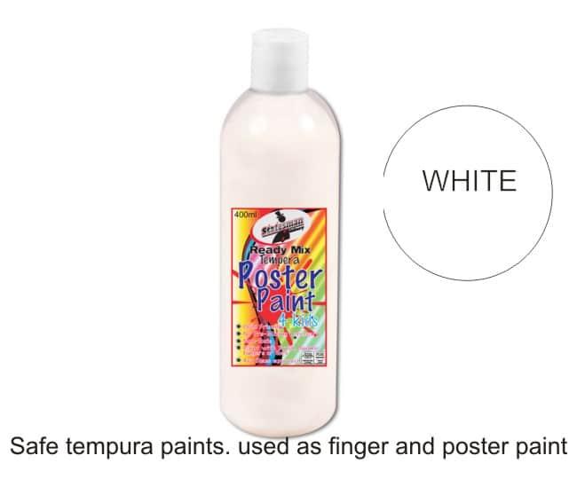 White Tempura Paint 400ml 1