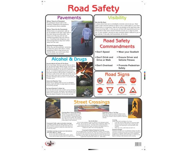 Poster Write and Wipe Road Safety 1