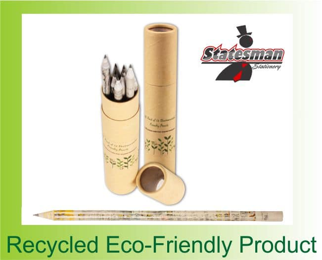 Statesman Back to Nature Eco-friendly HB Pencils 12 Pack 1