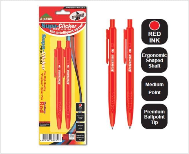 Supa Click Pens 2s  Red 1