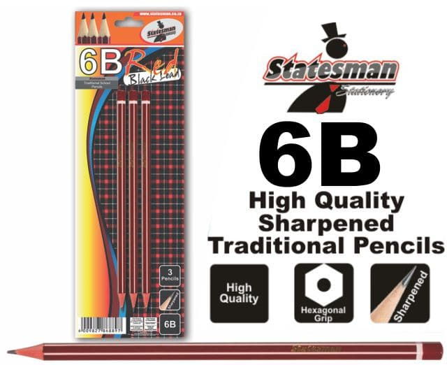6b Traditional Pencils  3 Pack High Quality 1