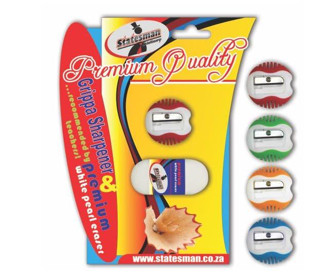 Grippa Premium Sharpener With Pearl Eraser 1