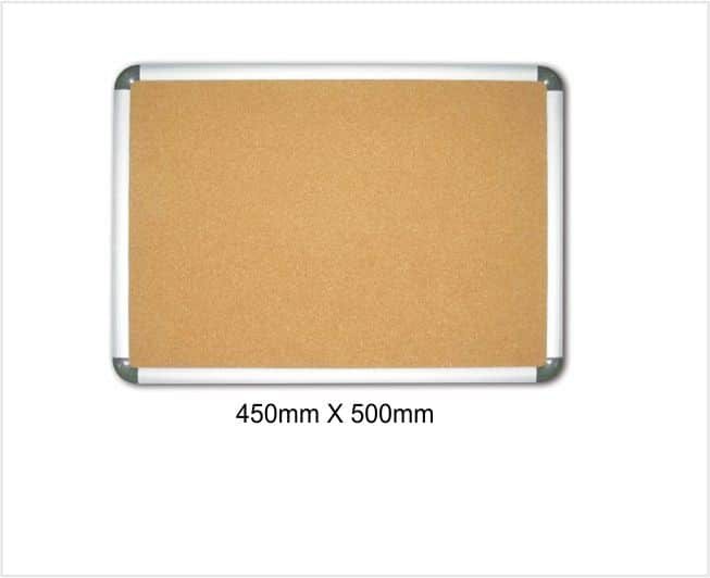 WEX Aluminium Frame Cork Board 450mm X 500 Mm 1