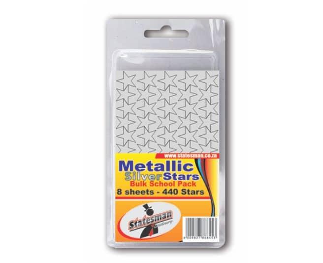 Pack of 440 Metallic Silver Stars 1