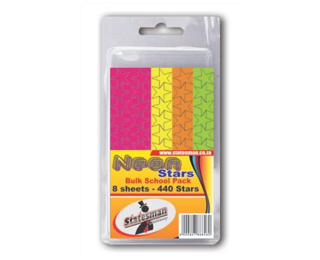 Pack of 440 Neon Stars 1