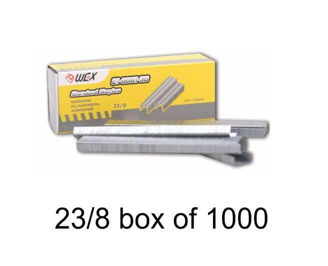 WEX Heavy Duty Staples 23 / 8, 1000 / Bx 1