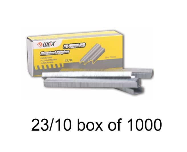 WEX.heavy Duty Staples 23 / 10, 1000 / Bx 1