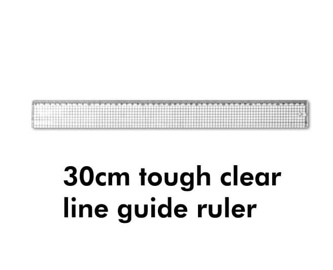 Line Guide Acrylic Grid Ruler 30cm for Technical Drawing 1