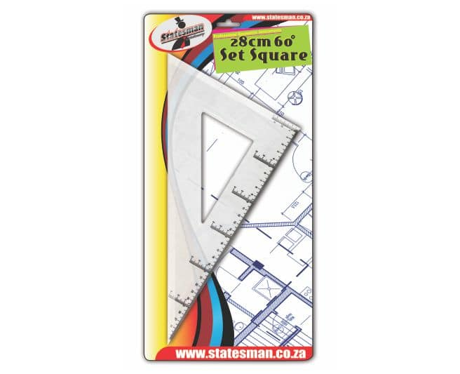 28cm 60 Degree Set Square Carded 1