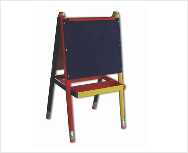 Kiddies Chalkboard and Whiteboard 2in1 on a Sturdy Stand 1