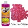 Large 500ml Glitter Paint Pink