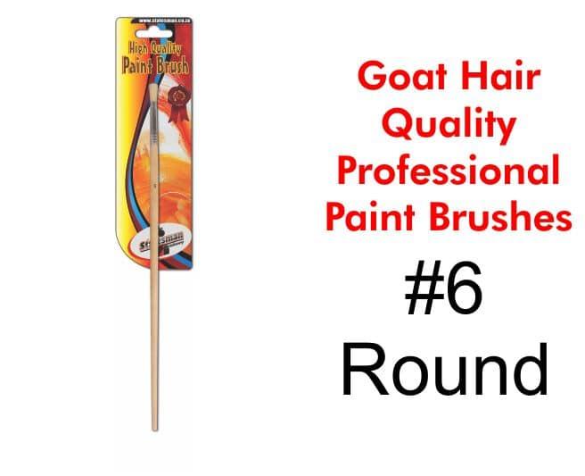 Paint Brush #6 - Goat Hair 1