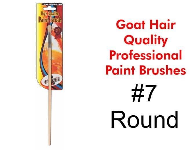 Paint Brush #7 - Goat Hair 1