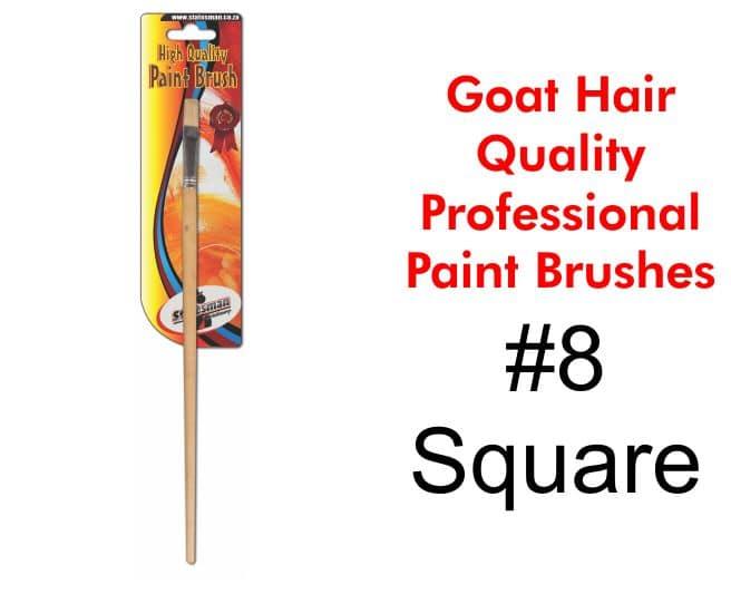 Paint Brush #8 - Goat Hair Round Tip 1