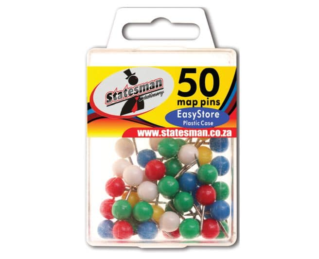 Map Pins in Easy Store Plastic 1