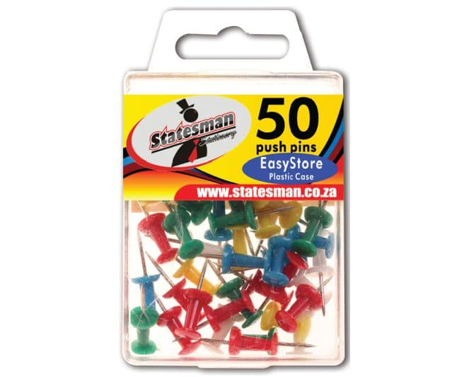 Push Pins in Easy Store Plastic 1