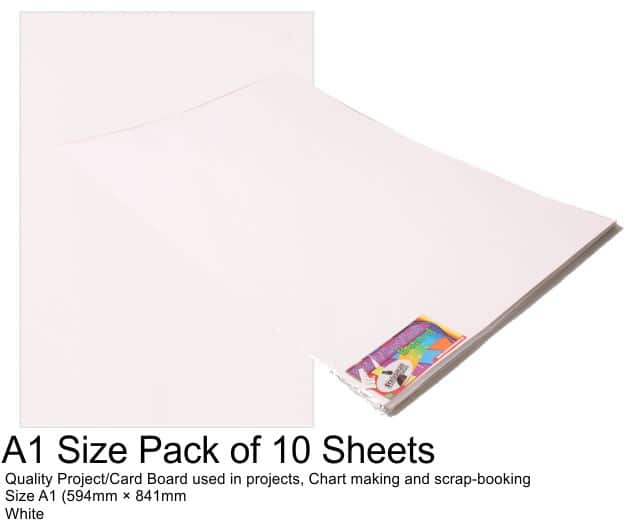 A1 Project Boards - 10 Sheets White 1