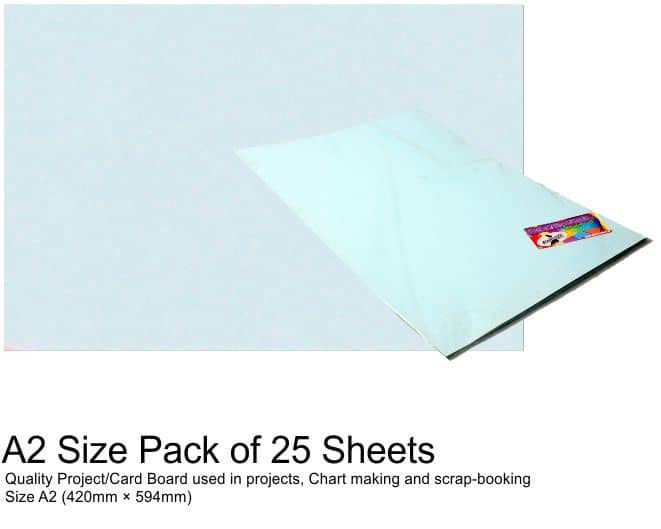 A2 Project Boards - 25 Sheets Blue 1