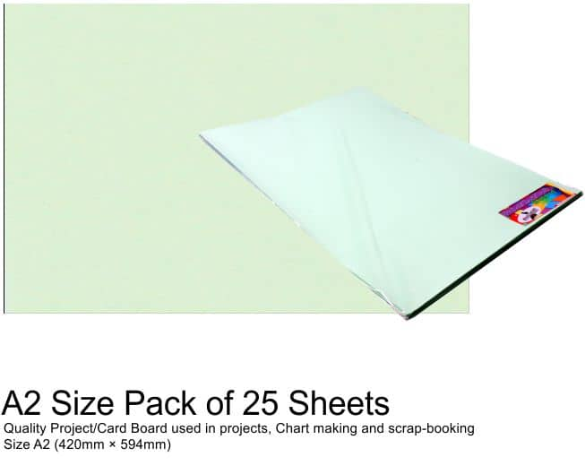 A2 Project Boards - 25 Sheets Green 1