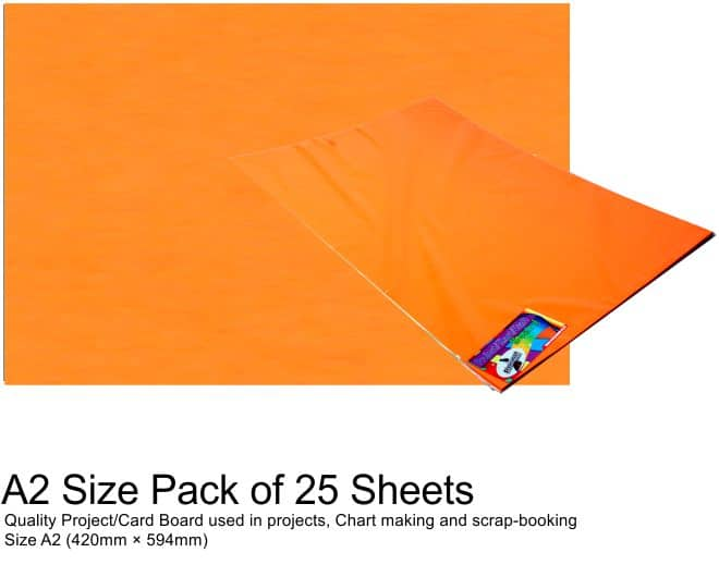A2 Project Boards - 25 Sheets Orange 1