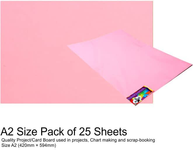 A2 Project Boards-25 Sheets Pink 1