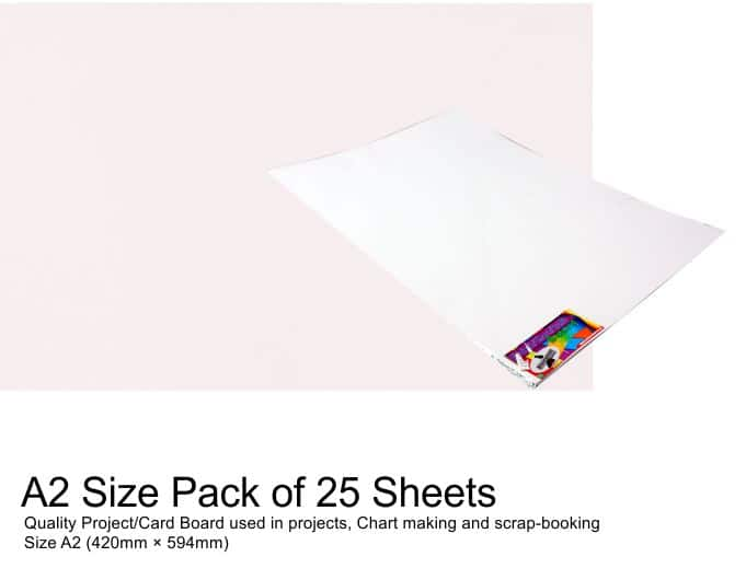 A2 Project Boards-25 Sheets White 1