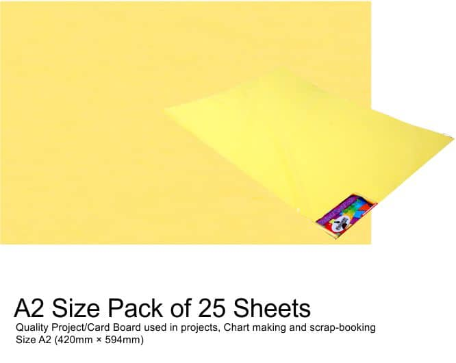 A2 Project Boards-25 Sheets Yellow 1