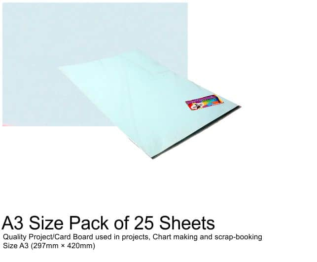 A3 Project Boards-25 Sheets Blue 1