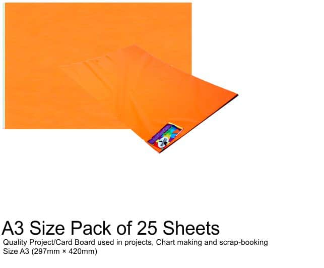 A3 Project Boards-25 Sheets Orange 1