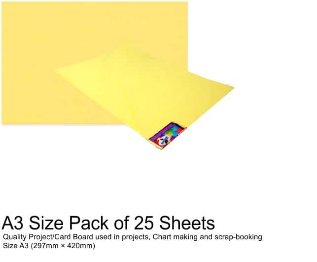 A3 Project Boards-25 Sheets Yellow 1