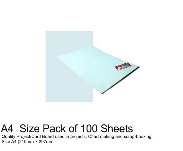 A4 Project Boards - 100 Sheets Blue 1