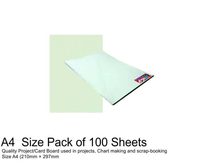 A4 Project Boards - 100 Sheets Green 1